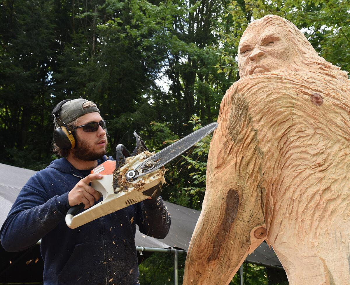 Where does he live? Woodcarver makes a bigfoot impression