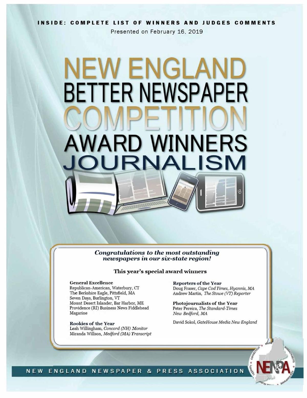 NENPA: 2018 Journalism Award Winners