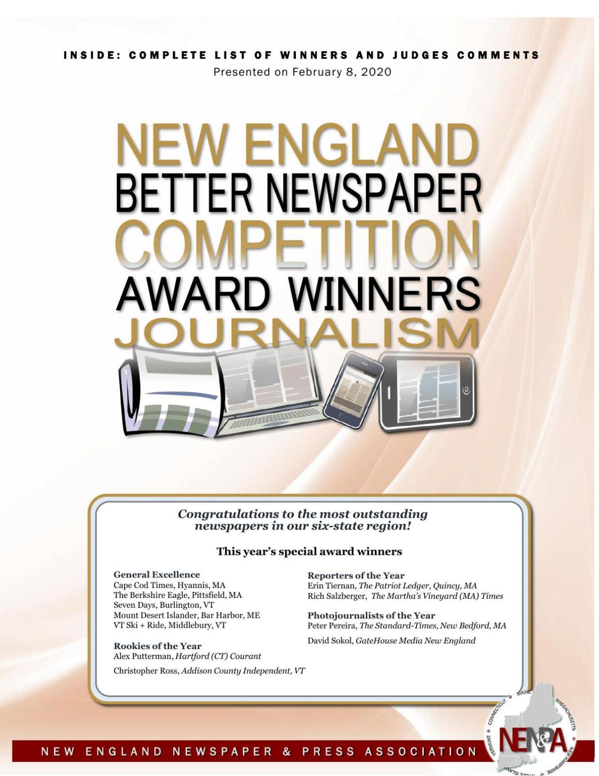 NENPA: 2019 Journalism Award Winners