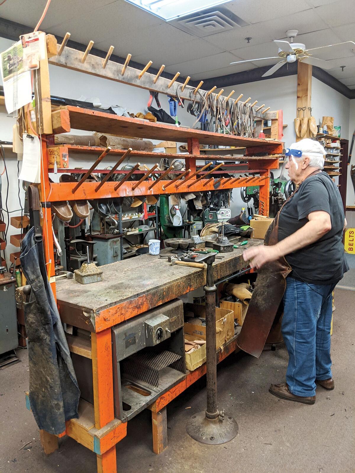 John Welsh in his shop