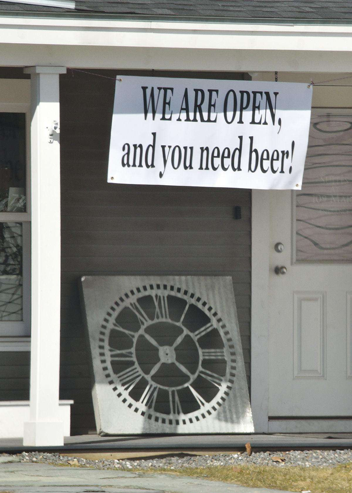 We are open, an you need beer!