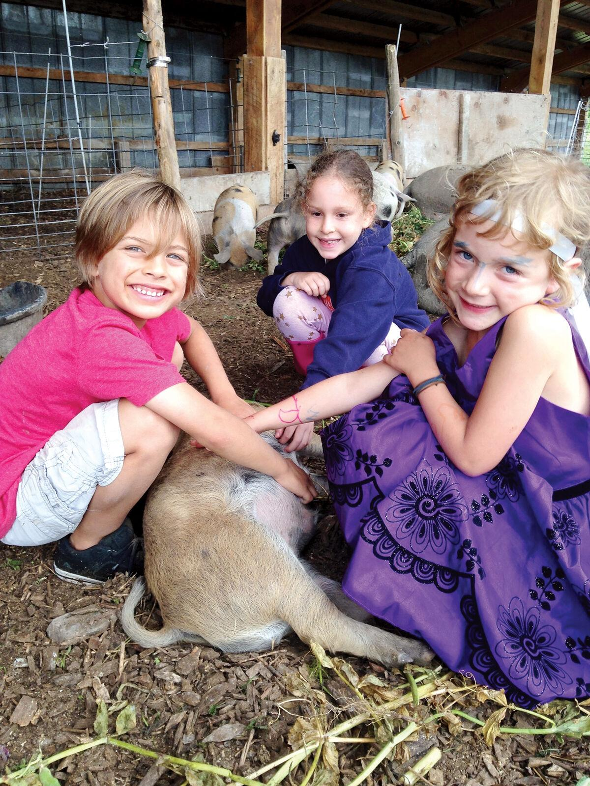 Young Bread and Butter Farm visitors