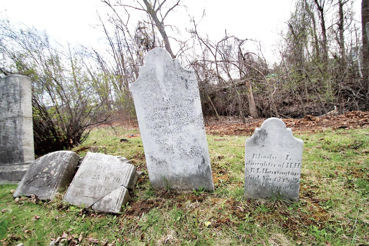 Grave stones at Shelburne Road Cemetery