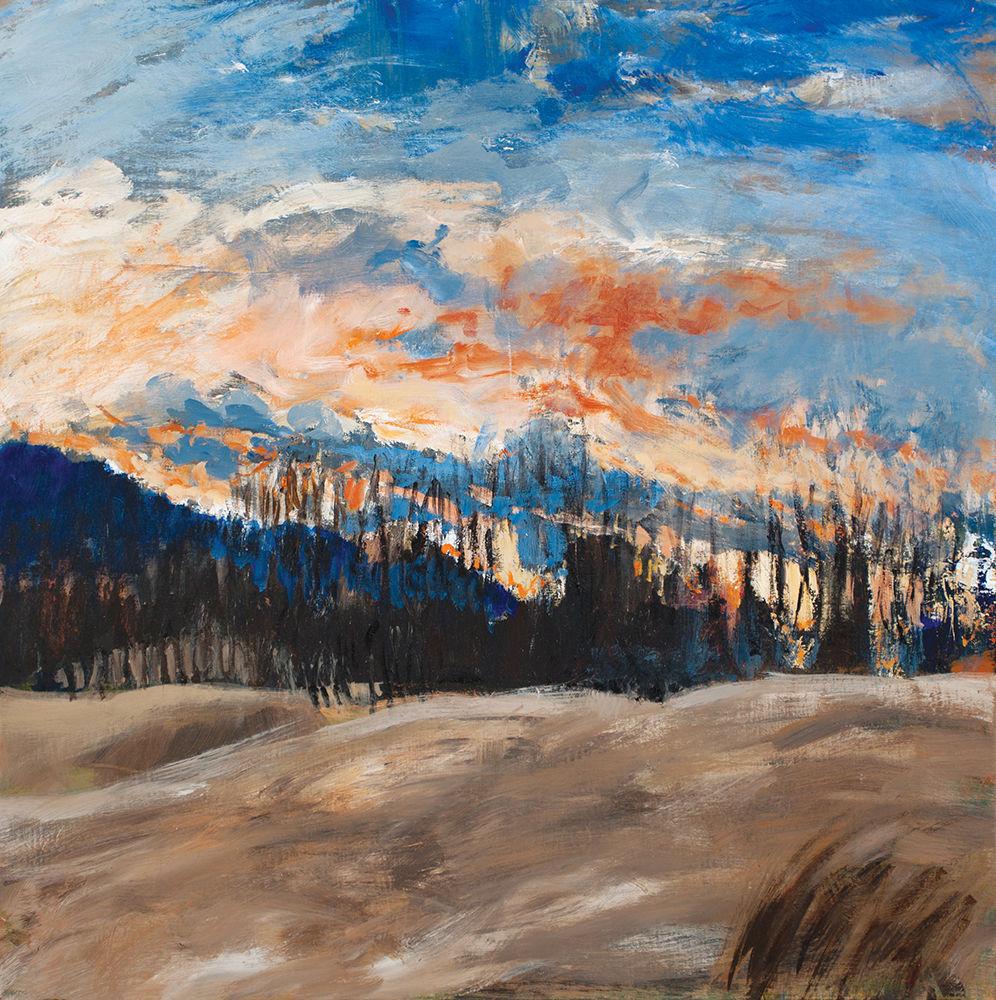 """Laura Heijn's """"Sunset Over Brown Pasture"""""""