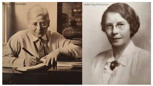 Dr. Marguerite Lichtenthaeler and Helen Day Montanari