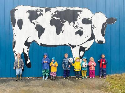 World Cow mural