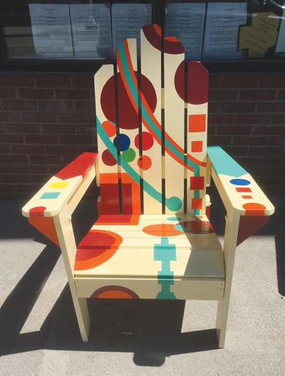 Chair painted by Paul Trudell