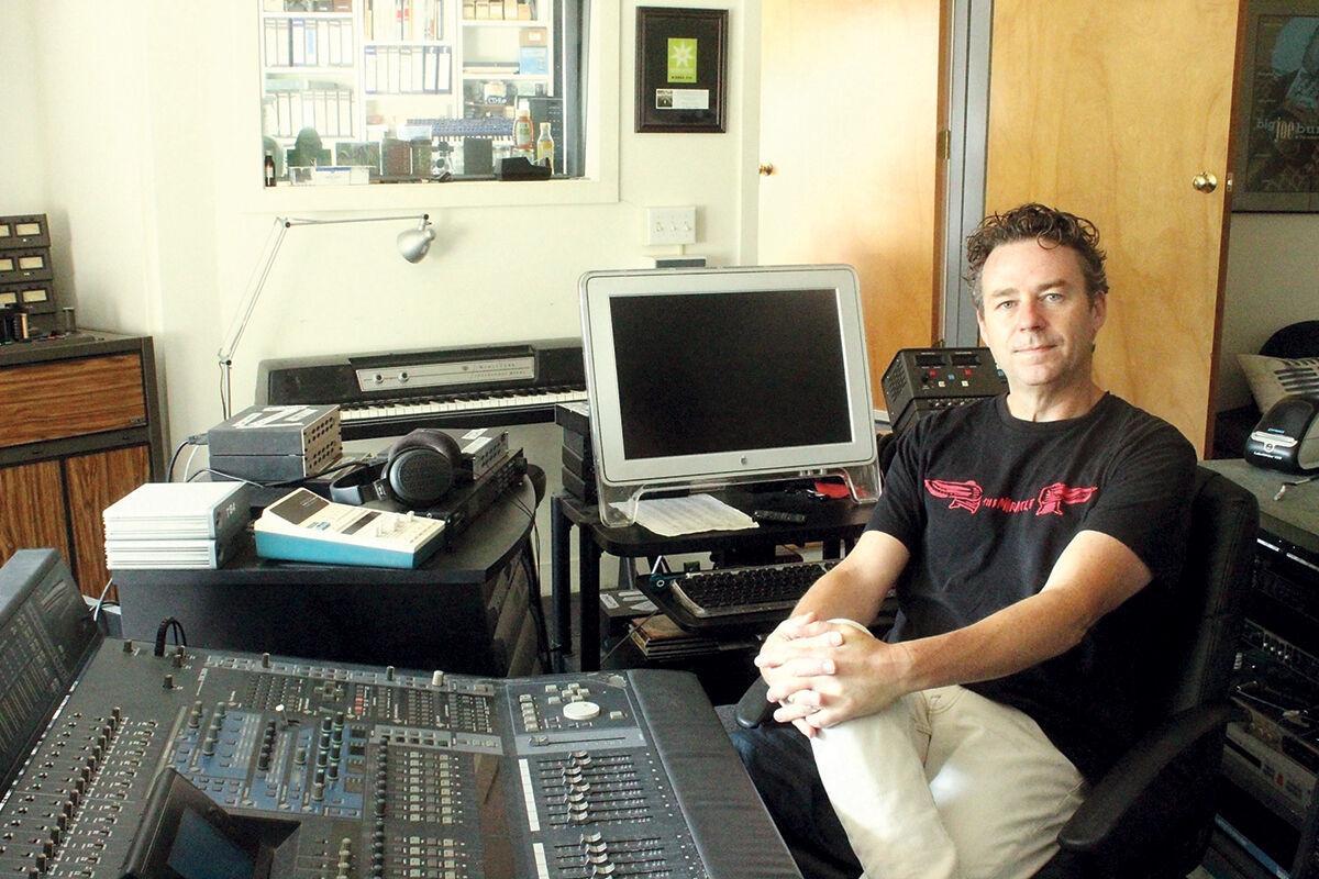 Jacob Edgar in his recording studio