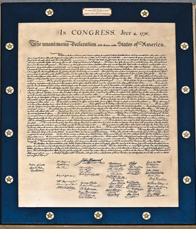 The Declaration of the thirteen united States of America