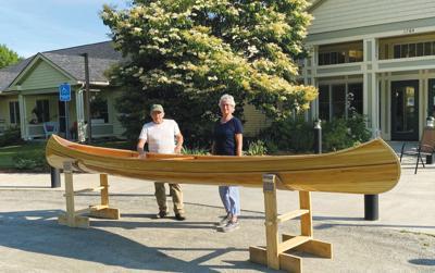 Handcrafted canoe