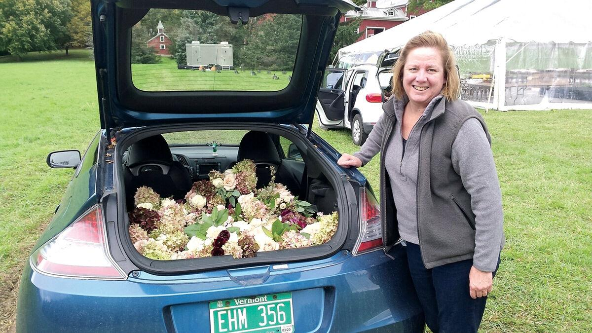Orchard neighbors donate peony bouquets