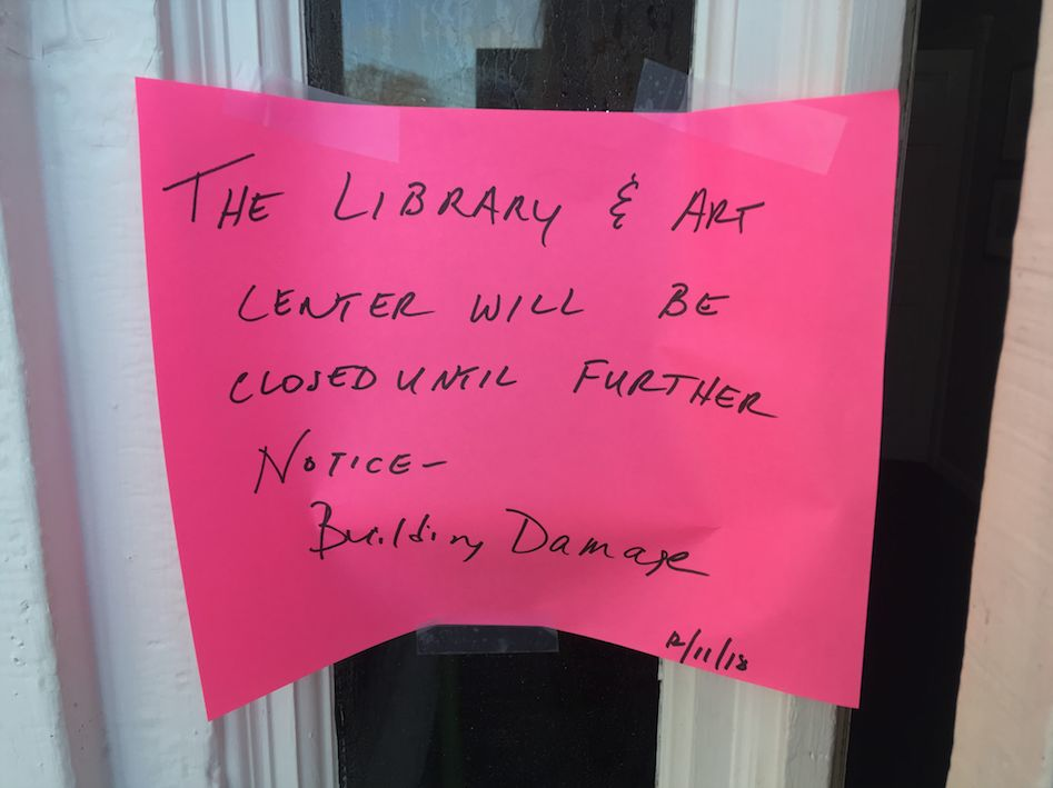 Stowe Free Library/Helen Day Art Center closed