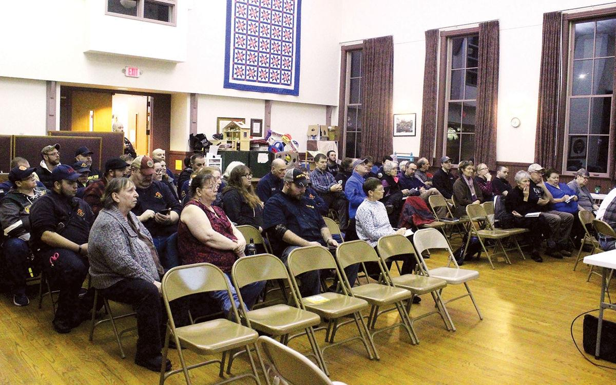 At least 50 people showed up for the Hinesburg Selectboard meeting