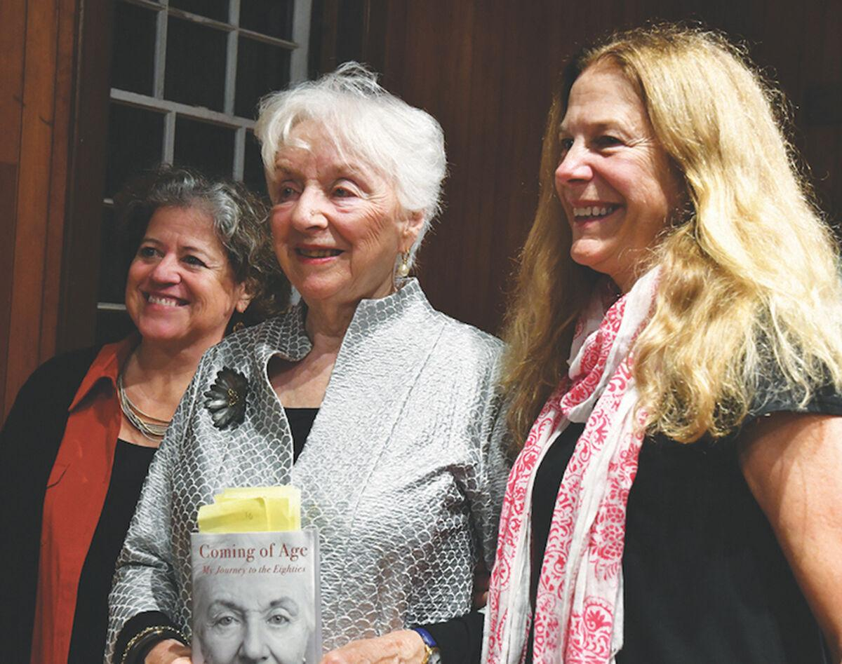 Madeleine Kunin poses with supporters