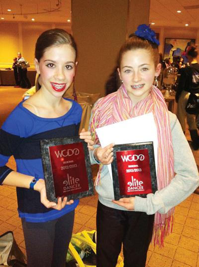 Avery Marchand of Stowe and Madeleine Dwyer and Reilly Faith (not pictured) of Morrisville won Elite Dancer awards at the West Coast Dance Explosion in Boston.