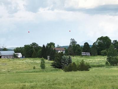 Ham radio tower balloon test