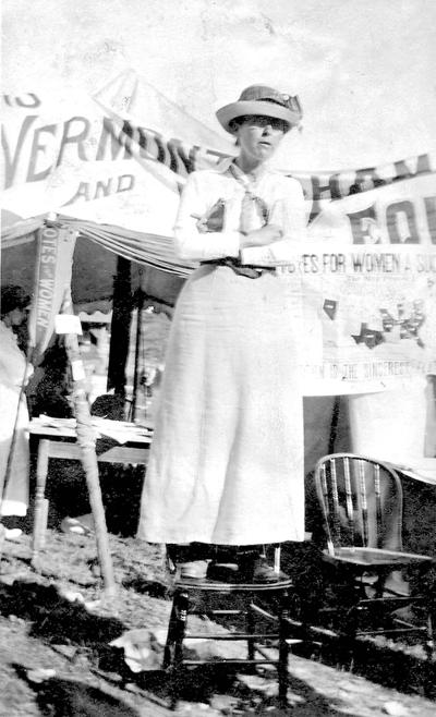 A member of Women's Suffrage Association of Vermont