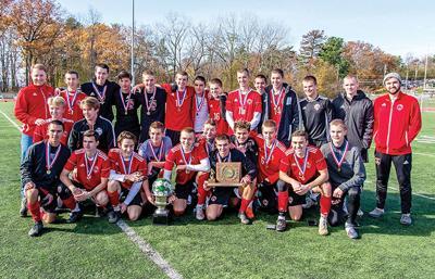 The Redhawk boys soccer team