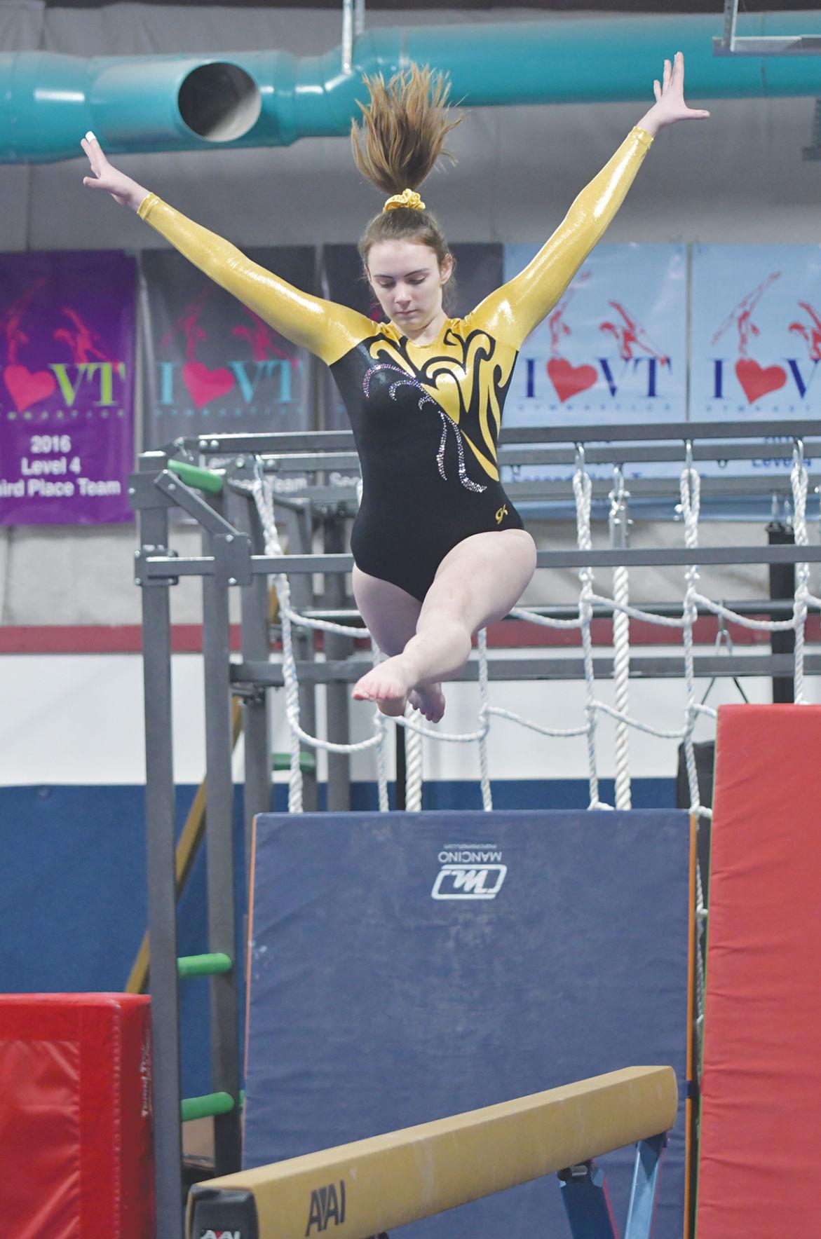 Harwood gymnastics meet: Delana Cheney