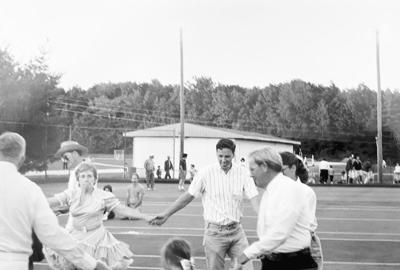 Tom Hubbard participating in a square dance festival