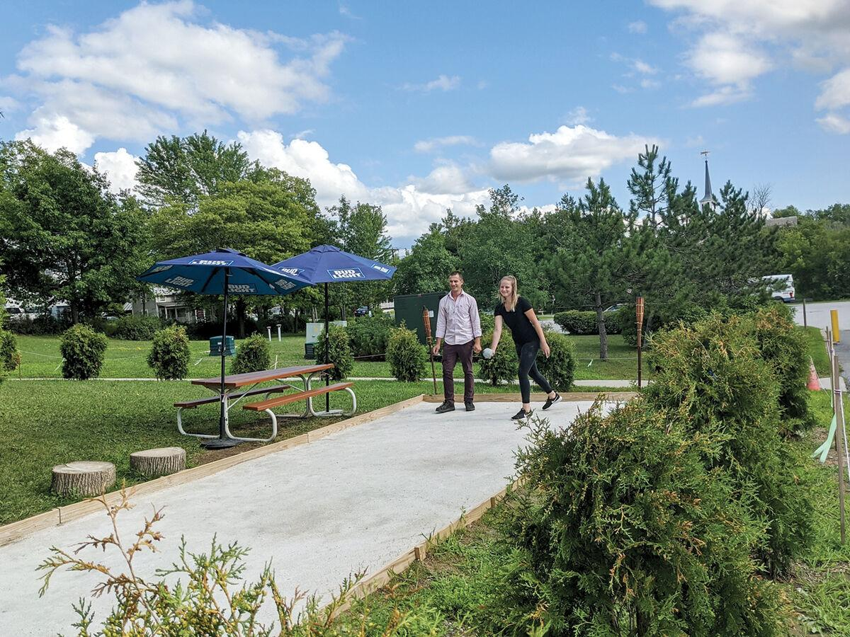 Hinesburgh Public House's new bocce ball court
