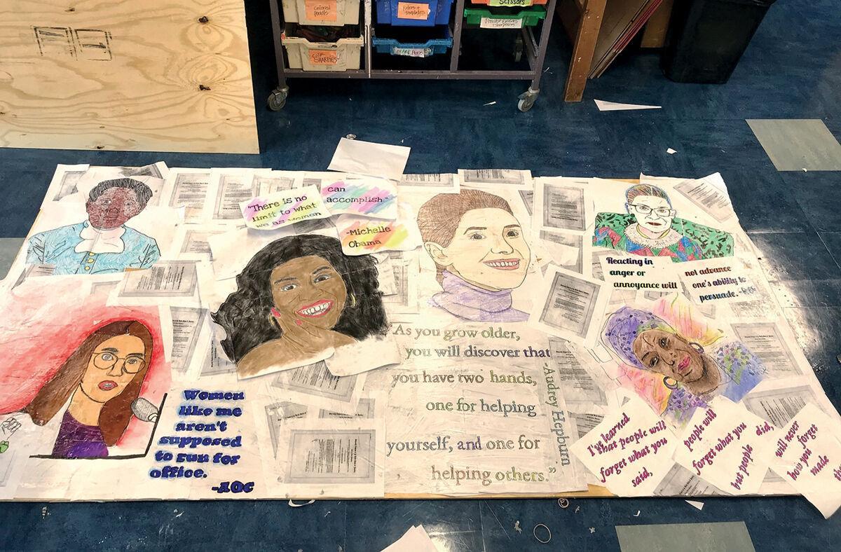Protest art class' mural 1