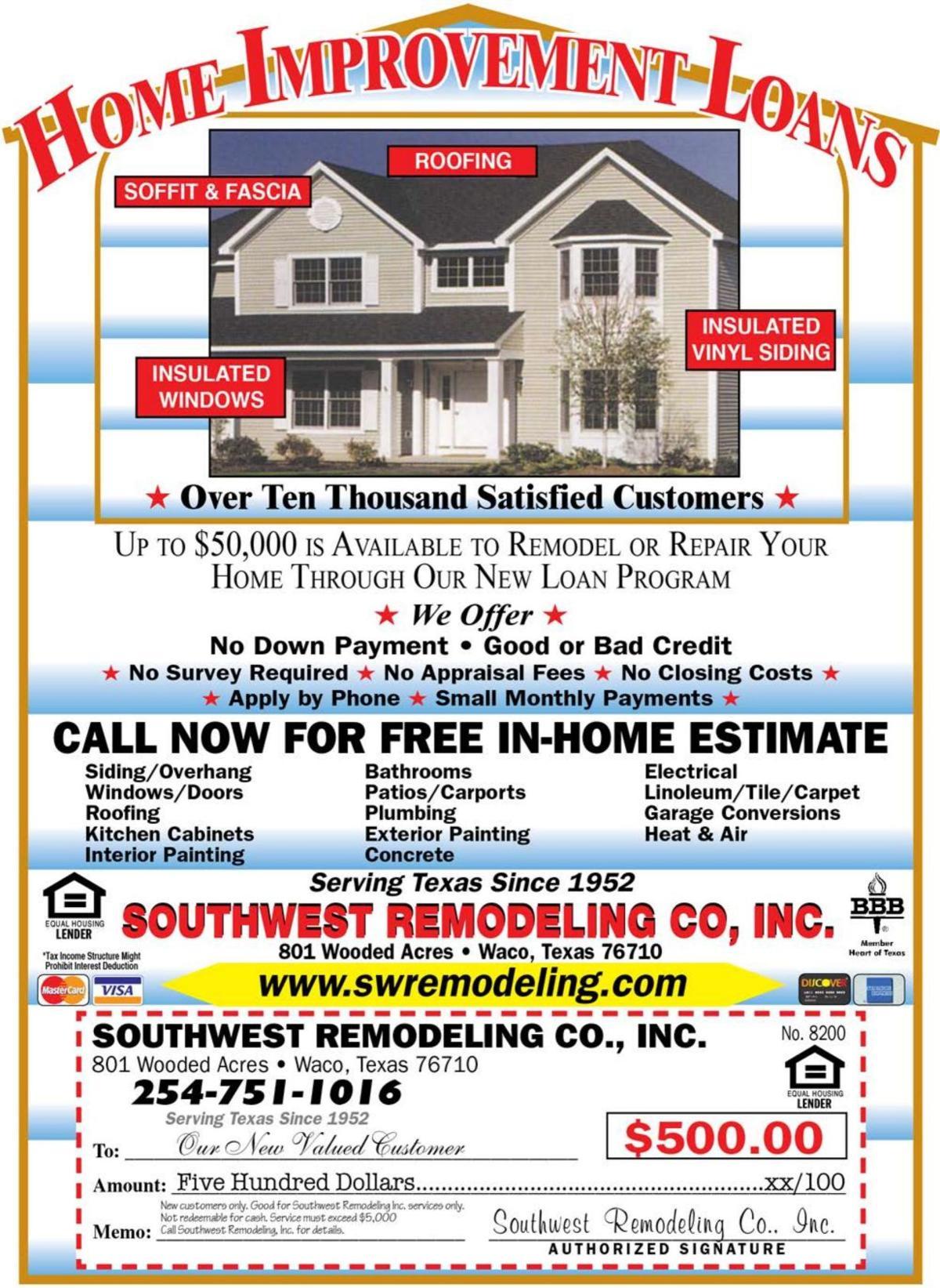 Southwest Remodeling - Home Improvement Loans