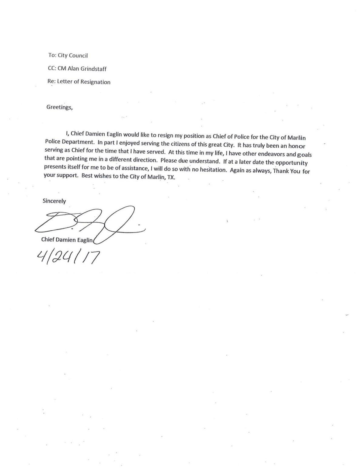 Formal Resignation Letter Format Copy  Resign Letter Format With