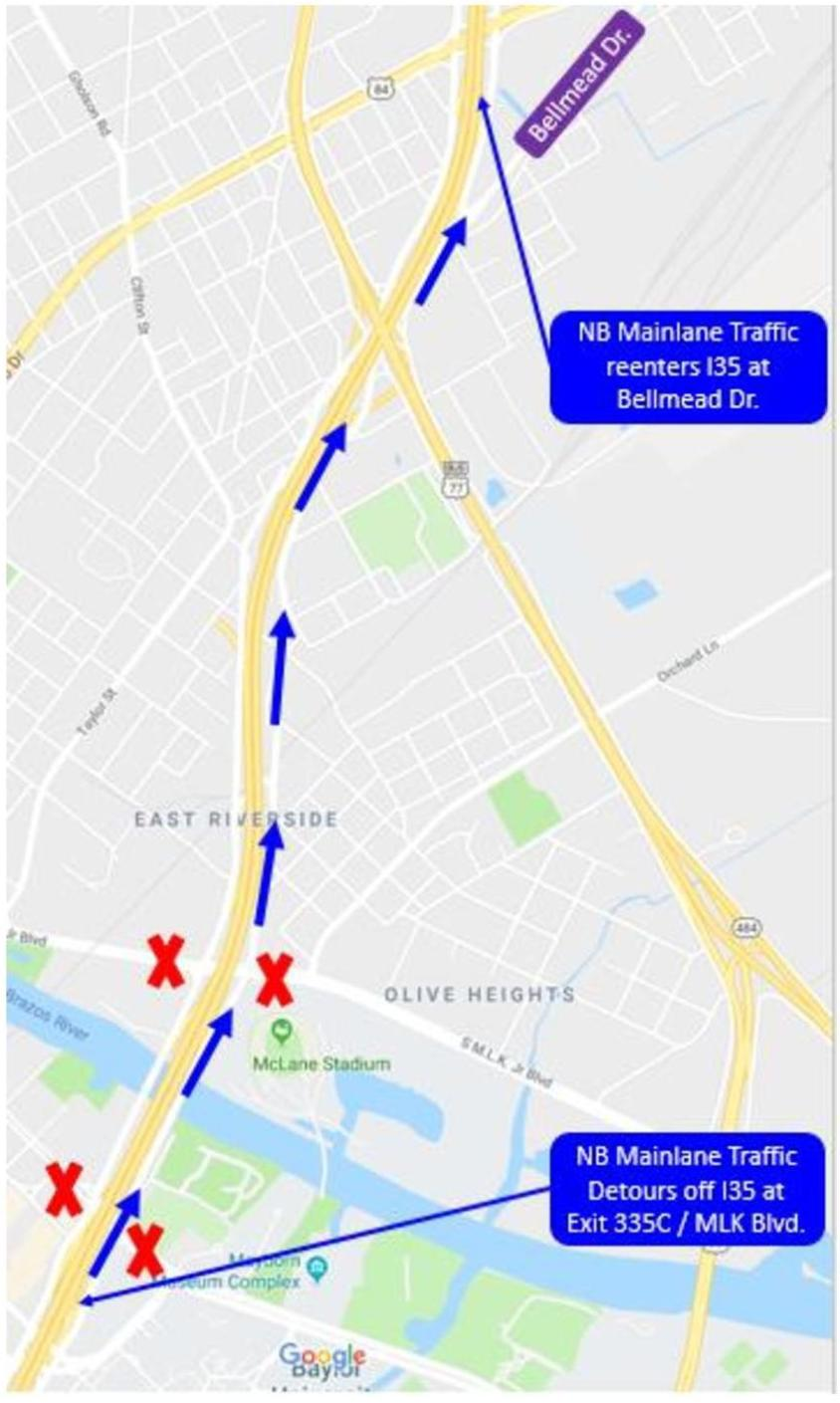 I-35 to close at Forrest Street overnight Wednesday, Thursday ... I Interstate Map on i-35 oklahoma map, united states road map, i 65 mile marker map, i-35 highway, i-35 texas, us route 50 map, i-35 dallas, us highway 10 map,