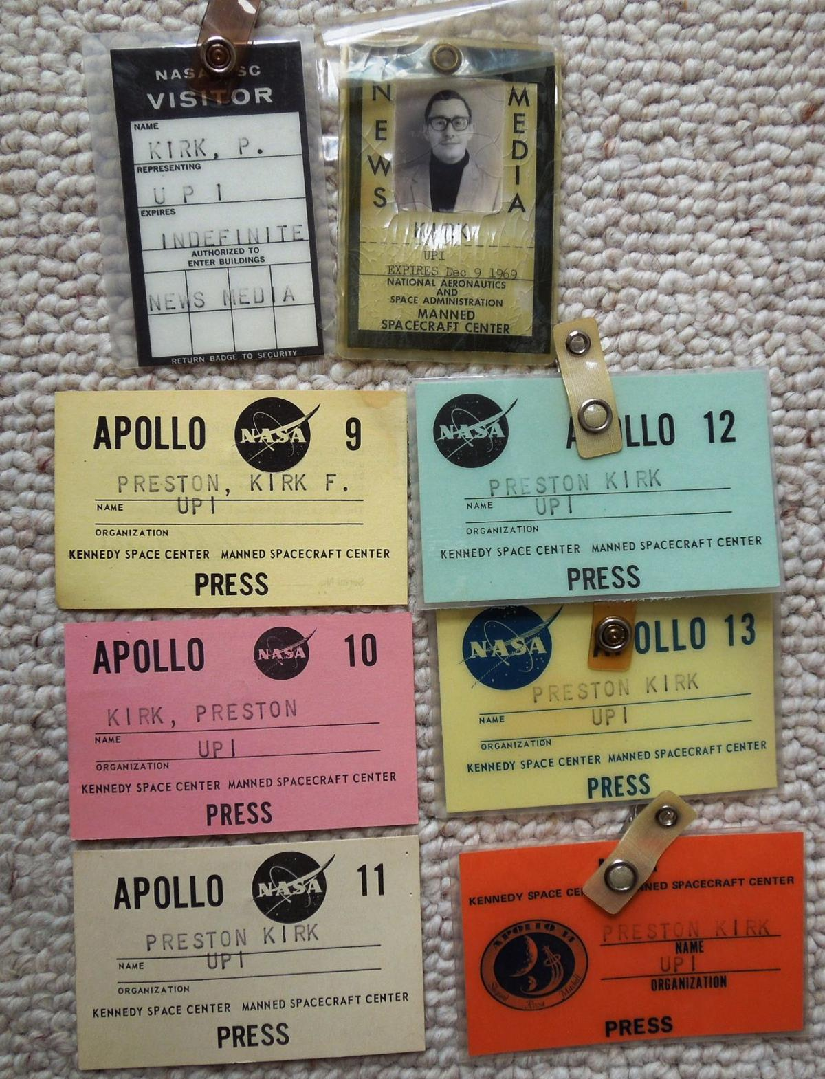 Preston Kirk Apollo mission IDs