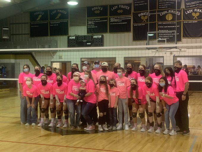 Crawford volleyball Pink-Out