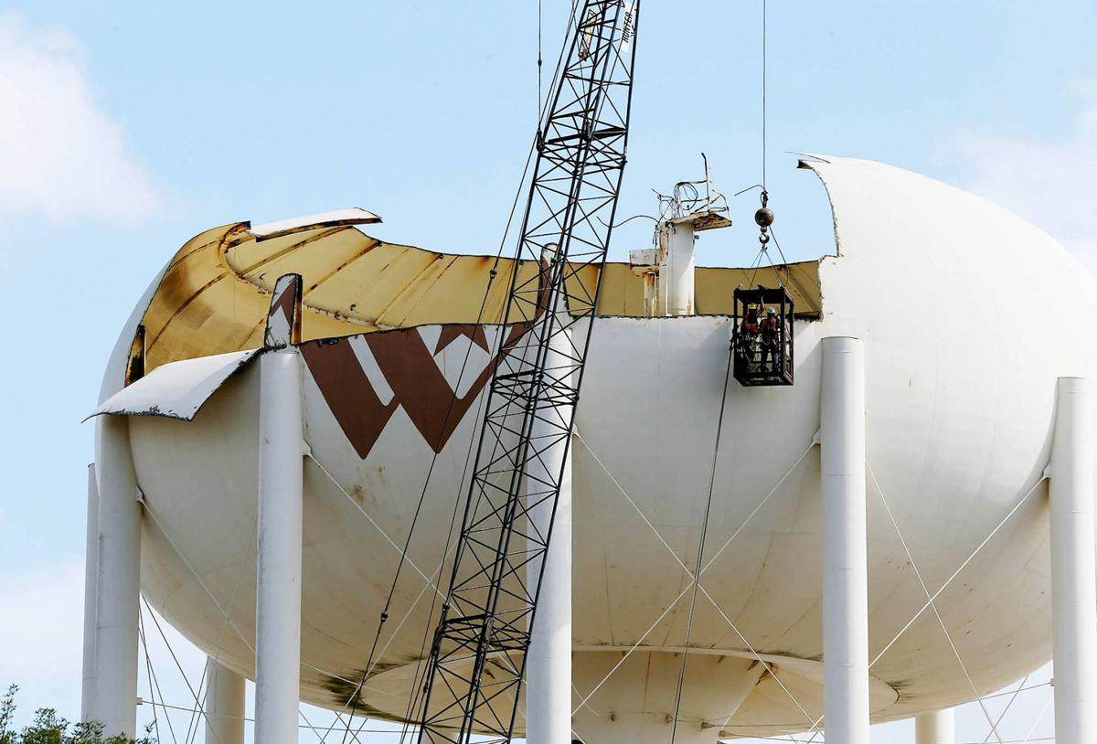 Water Tower Demolition K25 : Water tower demolition building industry wacotrib