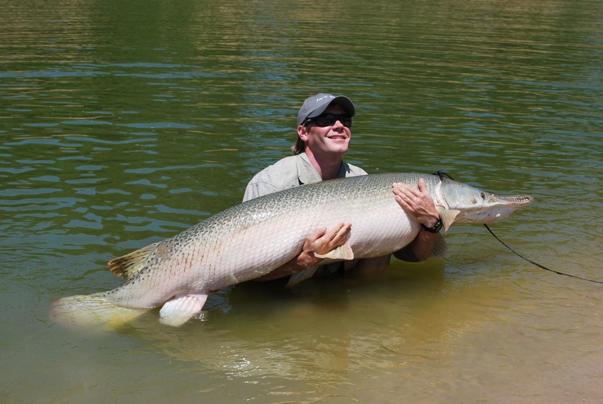 Angler with gar
