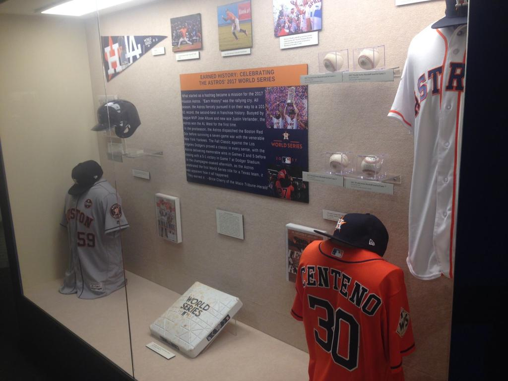 e8b878ec4 The new Houston Astros exhibit at the Texas Sports Hall of Fame features  jerseys