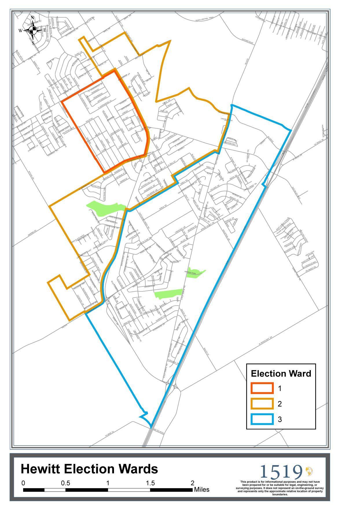 Hewitt Ward map