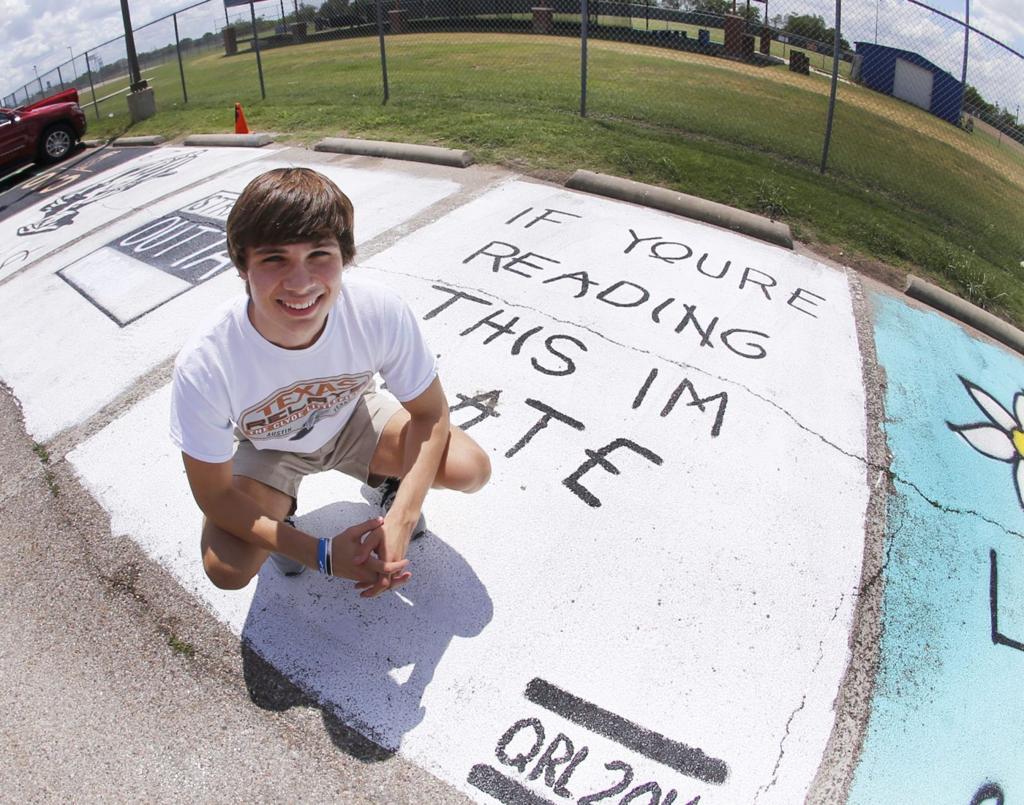 Drake Inspired Parking Spots At Robinson High Go Viral Education Wacotrib Com