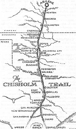 Riding Herd On History Was Waco A Stop On The Ol Chisholm Trail - Chisholm trail map