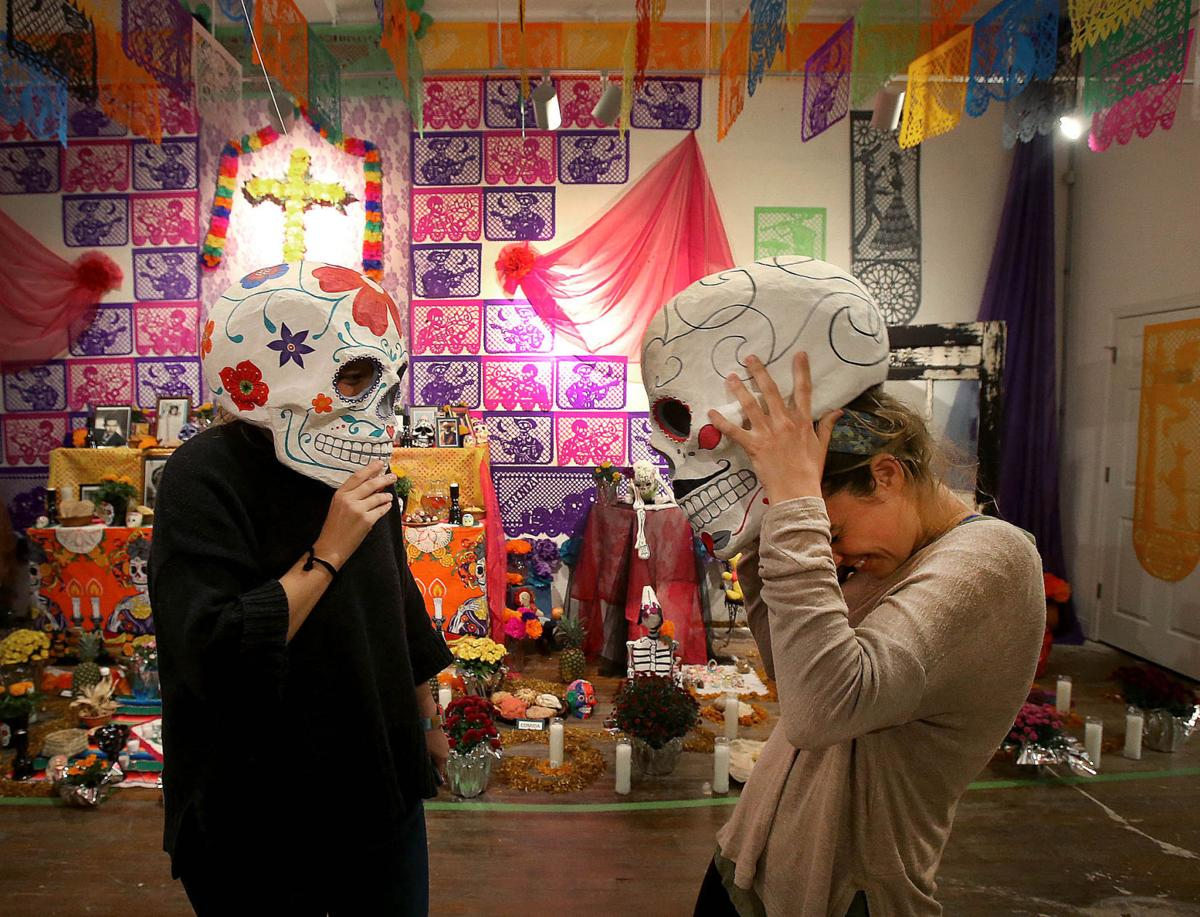 day of the dead ofrenda at cultivate 7twelve celebrates life death