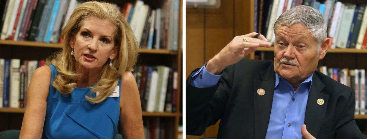 "Katherine Turner-Pearson (left), Charles ""Doc"" Anderson"