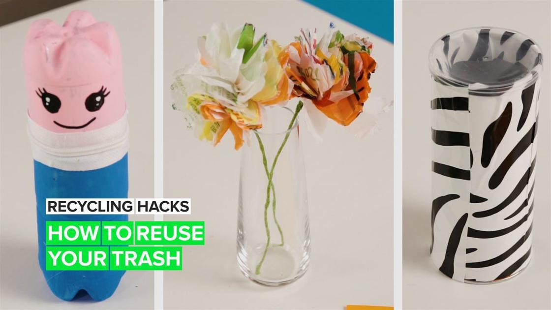 Watch: Easy recycling hacks that will spruce up your home