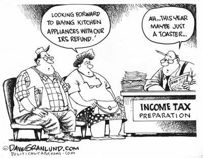 Thursday cartoon - taxes