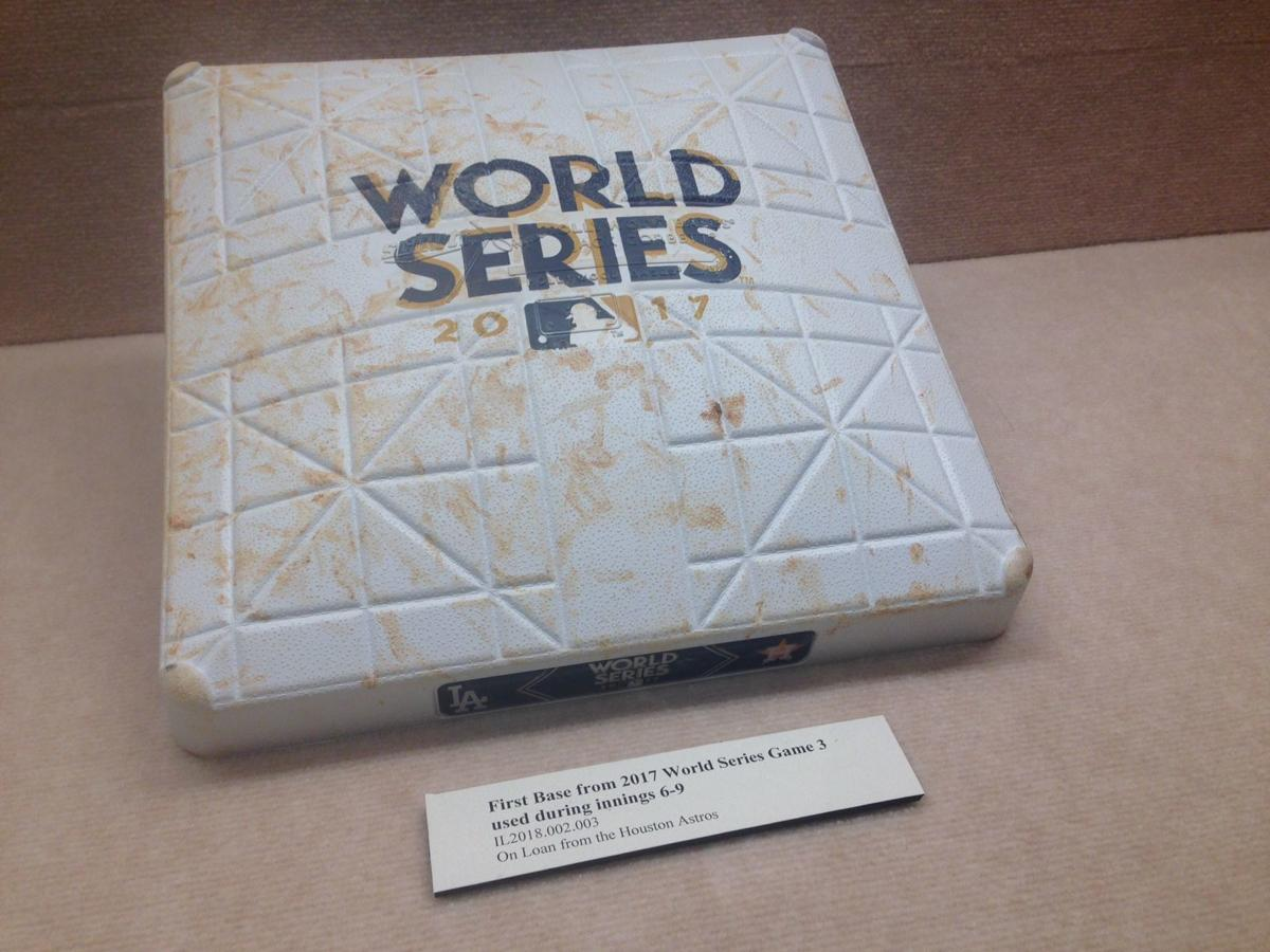 d5452e8aa Authenticators confirmed that this was a first base used in the 2017 World  Series between the Houston Astros and Los Angeles Dodgers.