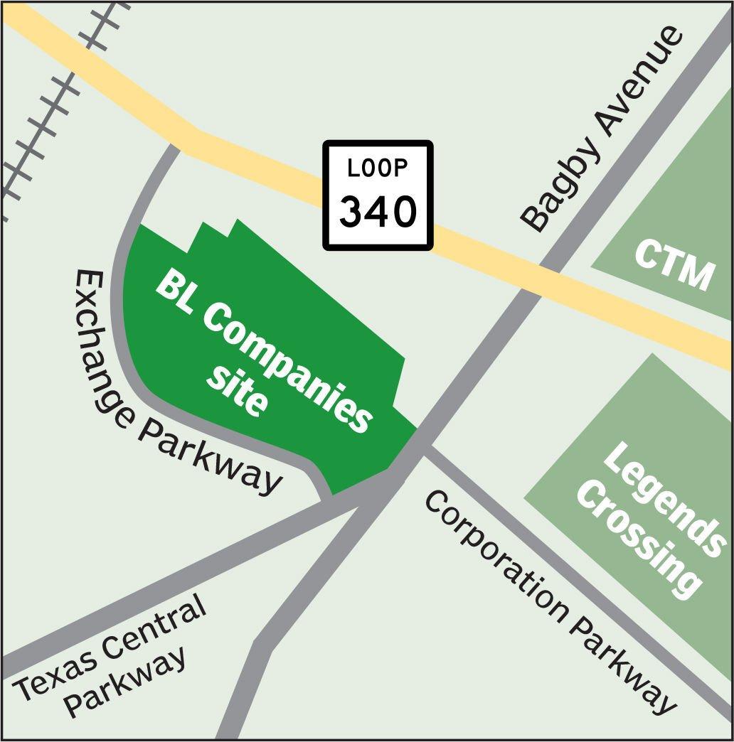 Exchange Parkway site graphic
