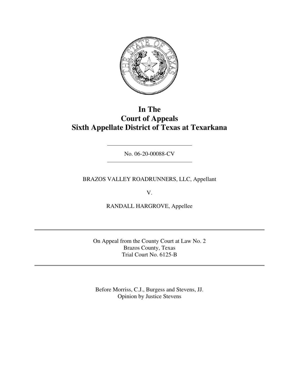 PDF: Texarkana appeals court case