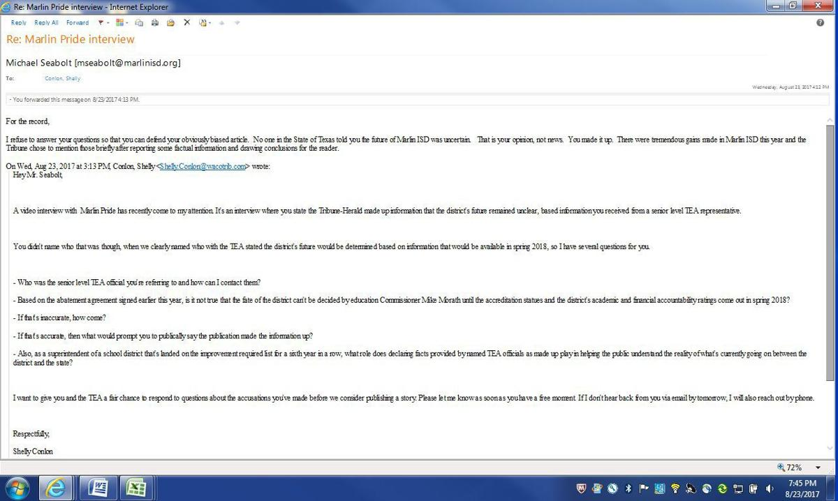 Marlin ISD email 2
