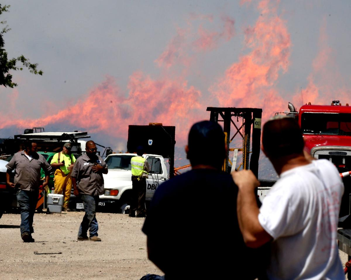 Waco Wood Recycling & Materials fire