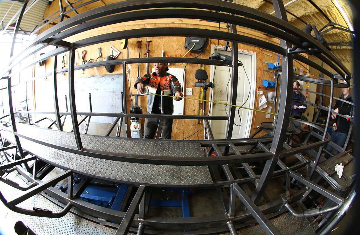 Rapoport students help build entertaining pedal bike for