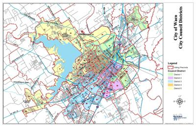 City of Waco district boundaries