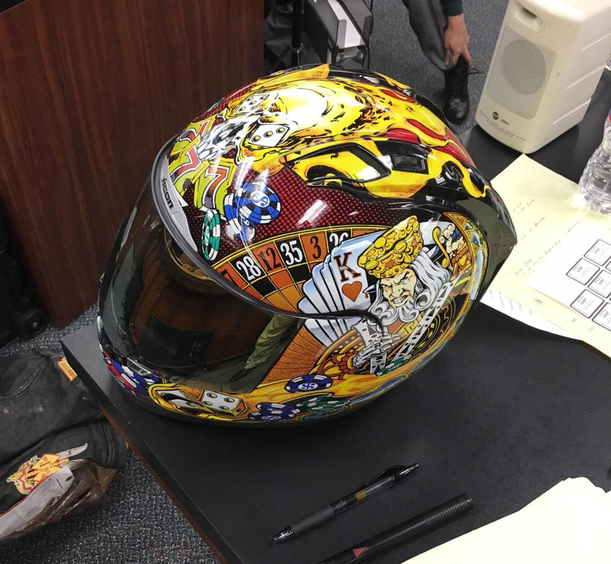Jacob Carrizal helmet