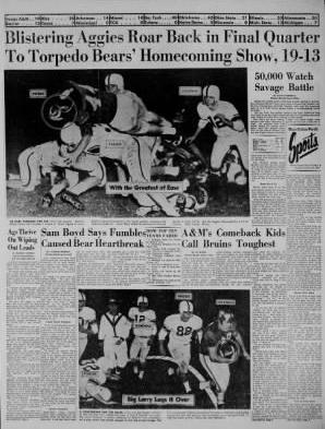 Trib 1956 - Aggies Bears